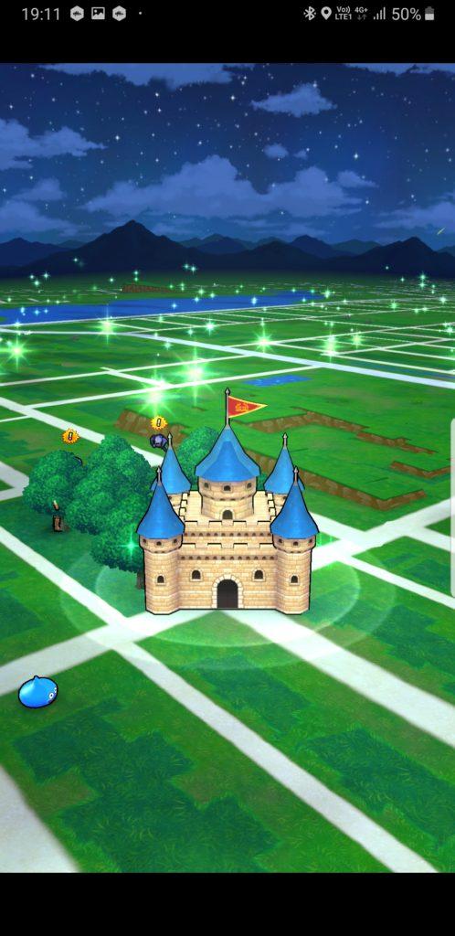 ドラクエウォークマップ画面