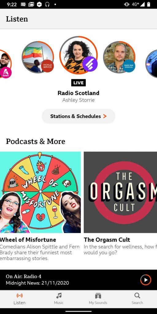 BBCSoundsポッドキャストアプリ